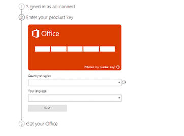 where to enter office setup product key